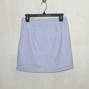 Vineyard Vines Blue and White Seersucker skirt
